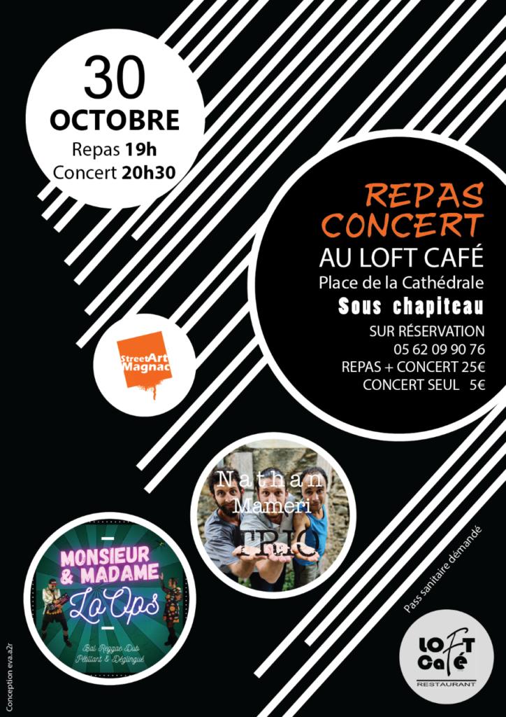 Repas Concert Festival StreetArtMagnac