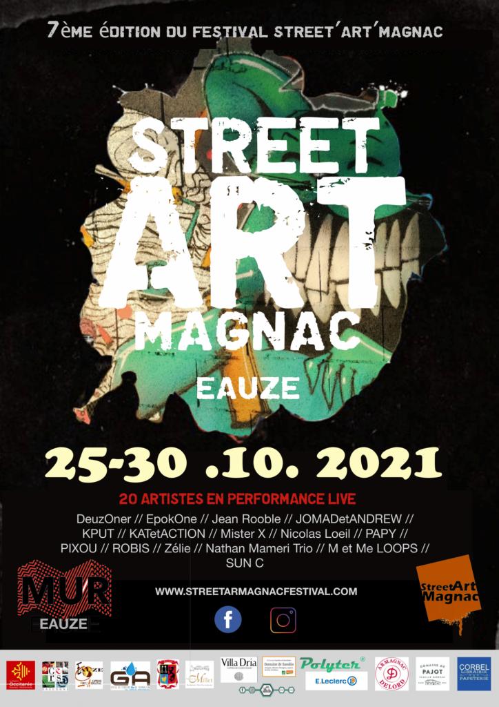 affiche streetartmagnac 2021
